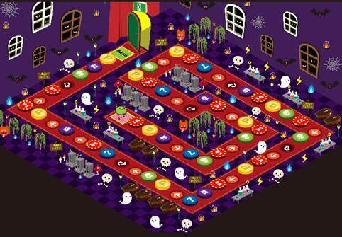 おばけハウスのマップ